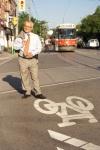 Joe Pantalone campaigning for mayor